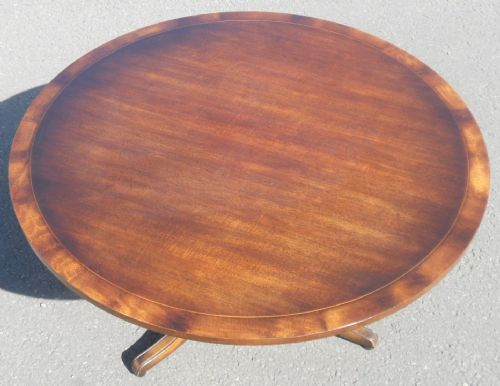 Circular Mahogany Coffee Table by Rackstraw
